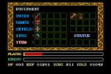 Ys III: Wanderers from Ys TurboGrafx CD Equipment screen