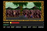 Ys III: Wanderers from Ys TurboGrafx CD Crawling through a cave - ninja enemy ahead!