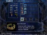 Ys: The Oath in Felghana Windows Equipment screen. Note the new bracelet system