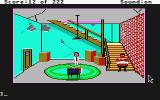Leisure Suit Larry in the Land of the Lounge Lizards Atari ST Larry watching some TV