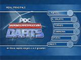 PDC World Championship Darts Windows The main menu in Italian. While the menus and game text changes with the selected language the commentary is still in English