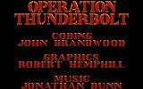 Operation Thunderbolt Atari ST Credits
