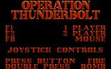 Operation Thunderbolt Atari ST Menu