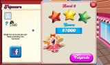 Candy Crush Saga Android Level completed (Dutch tablet version).