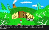 The Black Cauldron Atari ST Taran finds the hidden cottage of the Fair Folk