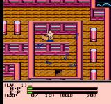 Esper Dream 2: Arata naru Tatakai NES A mansion full of enemies in World 4
