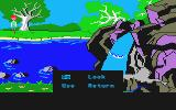 The Black Cauldron Atari ST Near a waterfall (note the crude commands)