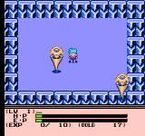 Esper Dream 2: Arata naru Tatakai NES Scripted battle against powerful guys in World 4