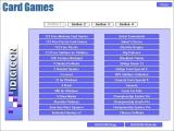 Family Card Games Windows The card games are accessed via a menu system. This is the first screen