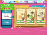 My Little Pony: Friendship Is Magic iPad The player can acquire ponies and buildings through the game's store.