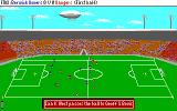 Football Manager 3 DOS Match is in progress with commentary (VGA)