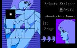 Joshi Daisei Private PC-88 Yuko - gameplay in progress