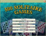 1000 Games: Volume 3 Windows The 500 Solitaire Games main menu. 