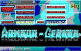 Armour-Geddon DOS Main Menu (EGA)