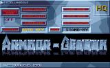 Armour-Geddon DOS Main Menu (VGA 16 Color)