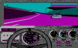 Bill Elliott's NASCAR Challenge DOS Gameplay (CGA)