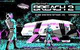 Breach 2 DOS Title screen (CGA)
