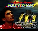 Ayrton Senna Kart Duel PlayStation Title screen.