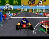 Ayrton Senna Kart Duel PlayStation Very close to the finish line.
