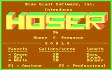 Hoser DOS Title screen