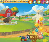 Farm Heroes Saga Browser If you clear the level, the cropsies are carted away.