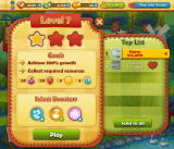 Farm Heroes Saga Browser The goals of the collection level. Photos blurred for privacy.