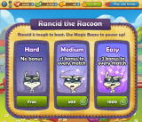 Farm Heroes Saga Browser If you have the magic beans, you can use them to make the Rancid the Raccoon level easier.