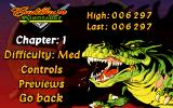 Cadillacs and Dinosaurs: The Second Cataclysm DOS Sub-Menu