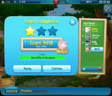 Pet Rescue Saga Browser Level 1's cleared stats. Photos blurred for privacy.