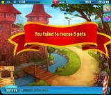 Pet Rescue Saga Browser I failed to save 5 pets.