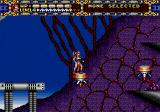 Alisia Dragoon Genesis Level 3 features a giant flying high-tech airplane.