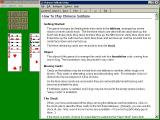 Chinese Solitaire Windows 3.x The game's help files are accessed via the menu bar and open in a new, resizable window