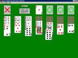 Chinese Solitaire Windows 3.x The game is played with the mouse. Once a card has been clicked on it can be dragged and dropped into place