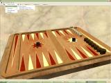 Puzzle & Board XP Championship Windows Backgammon in 3D mode showing some of the menu bar configuration options