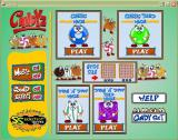 Candyz Windows The main menu screen includes the game choice options together with the game configuration options