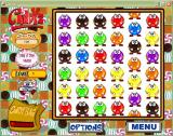 Candyz Windows Drag 'n Drop mode. Look at the second column on the right. Here the player clicks on a tile and, by dragging it with the mouse, slides the whole row or column along until a match is made.