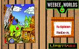 Weebee Worlds DOS Title screen