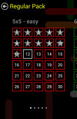 Flow Free Android Levels marked with stars were completed in the best possible way.