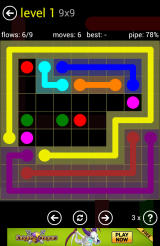 Flow Free Android A more complex 9x9 level
