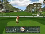 Golf Pro 2000 Downunder DOS There's a short, windowed fly-by of the course before the player sees the first tee.