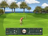 Golf Pro 2000 Downunder DOS The grid only appears when the player is on the green and close to the pin. A sighting line can be displayed by moving the cursor onto the green