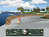 Golf Pro 2000 Downunder DOS Hovering the cursor over the Profile option will show the player the ideal flight of the ball when they are a distance to the pin