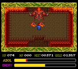 Ys IV: The Dawn of Ys TurboGrafx CD Second boss: armored dude in a lava room. He throws axes at me, which I have to avoid