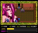 Ys IV: The Dawn of Ys TurboGrafx CD In-game cutscene in the end of an indoor dungeon. What is it with those attractive evil women?..