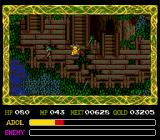 Ys IV: The Dawn of Ys TurboGrafx CD I've turned into a cute yellow monster! Now enemies won't attack me, and I can talk to them. Note the moody weather effects in this cool location: stairwells on a tree