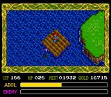 Ys IV: The Dawn of Ys TurboGrafx CD Attacked by a pesky bird while floating on a raft