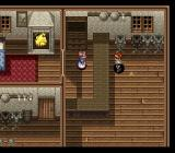 Ys V: Ushinawareta Suna no Miyako Kefin SNES The shops also have interiors. Check out the nice detail - armor standing near the wall, fireplace...