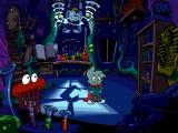 Pajama Sam: No Need to Hide When It's Dark Outside Windows Look at the electricity - isn't it an image of Putt-Putt? (Unfortunately, inter-game references don't seem too common in Pajama Sam games.)