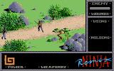 The Last Ninja Atari ST First encounter: no weapon around