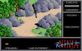 The Last Ninja Atari ST Running through the wilderness with low health
